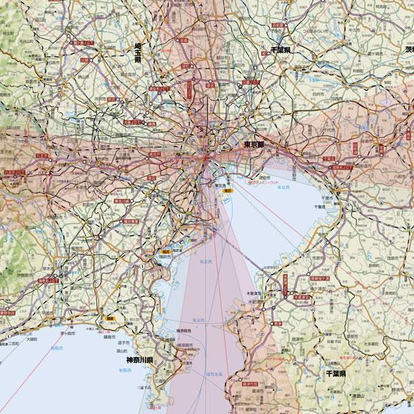 方位地図画像サンプル1/50万